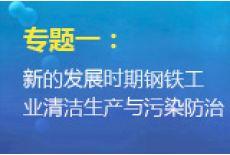 专题一:新的发展时期钢铁工业清洁生产与污染防治